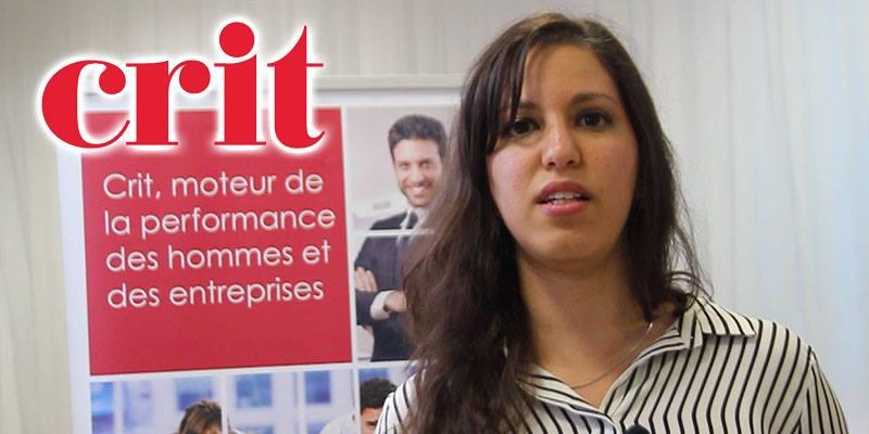 En vidéo : Farah Bouarrouj Psychologue Chargé de recrutement parle de la participation de CRIT au Forum de l'ATUGE