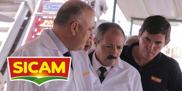 Visite de M. Zakaria Hamad et de M. Sâad Seddik à l'usine SICAM à Medjez el Bab
