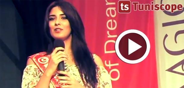 En vidéo...Marwa Héni lors de sa participation au concours Miss World 2015 : les tunisiens sont les meilleurs...