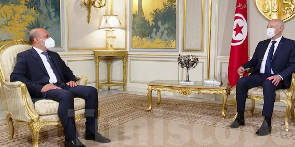 بالفيديو :  قيس سعيد يستقبل نائب رئيس المجلس الرئاسي الليبي عبد الله اللافي
