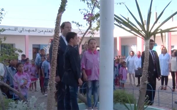 Visite de Youssef Chahed à l'école primaire ''Cité Chaker'' de Borj Touil