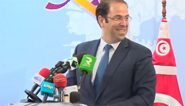 بالفيديو: رسالة مشفرة من يوسف الشاهد لمحسن مرزوق في افتتاح معرض صفاقس الدولي